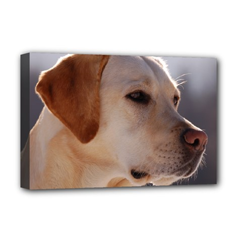 3 Labrador Retriever Deluxe Canvas 18  x 12  (Framed)