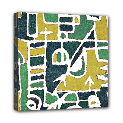 Colorful Tribal Abstract Pattern Mini Canvas 8  X 8  (framed)