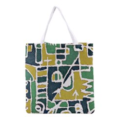 Colorful Tribal Abstract Pattern Grocery Tote Bag