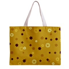 Abstract Geometric Shapes Design in Warm Tones Tiny Tote Bag