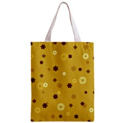 Abstract Geometric Shapes Design in Warm Tones Classic Tote Bag