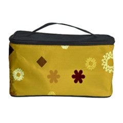 Abstract Geometric Shapes Design In Warm Tones Cosmetic Storage Case