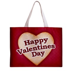 Heart Shaped Happy Valentine Day Text Design Tiny Tote Bag