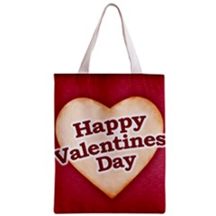 Heart Shaped Happy Valentine Day Text Design Classic Tote Bag