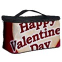 Heart Shaped Happy Valentine Day Text Design Cosmetic Storage Case View2