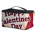Heart Shaped Happy Valentine Day Text Design Cosmetic Storage Case View3