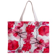 Floral Print Swirls Decorative Design Tiny Tote Bag