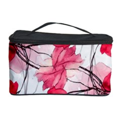 Floral Print Swirls Decorative Design Cosmetic Storage Case