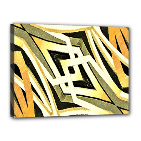 Art Print Tribal Style Pattern Canvas 16  X 12  (framed)