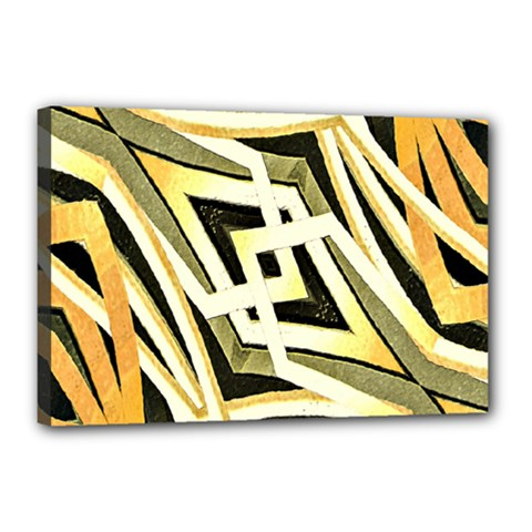 Art Print Tribal Style Pattern Canvas 18  X 12  (framed)