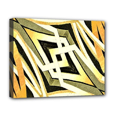 Art Print Tribal Style Pattern Deluxe Canvas 20  x 16  (Framed)