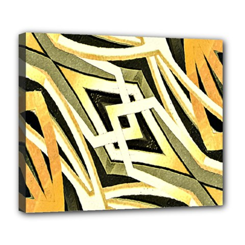 Art Print Tribal Style Pattern Deluxe Canvas 24  X 20  (framed)