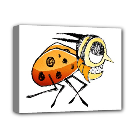 Funny Bug Running Hand Drawn Illustration Deluxe Canvas 14  X 11  (framed)