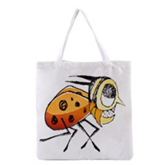 Funny Bug Running Hand Drawn Illustration Grocery Tote Bag