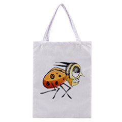 Funny Bug Running Hand Drawn Illustration Classic Tote Bag
