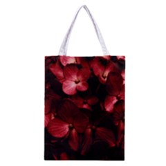 Red Flowers Bouquet in Black Background Photography Classic Tote Bag