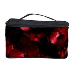 Red Flowers Bouquet in Black Background Photography Cosmetic Storage Case