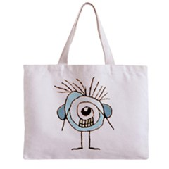 Cute Weird Caricature Illustration Tiny Tote Bag