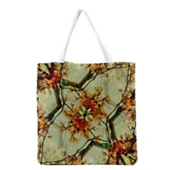 Floral Motif Print Pattern Collage Grocery Tote Bag