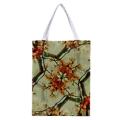 Floral Motif Print Pattern Collage Classic Tote Bag