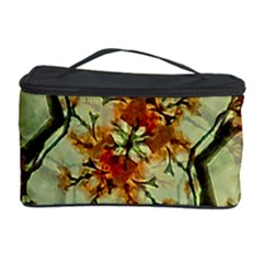 Floral Motif Print Pattern Collage Cosmetic Storage Case