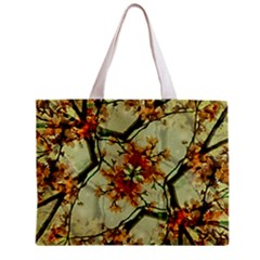 Floral Motif Print Pattern Collage Tiny Tote Bag