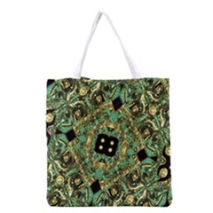 Luxury Abstract Golden Grunge Art Grocery Tote Bag