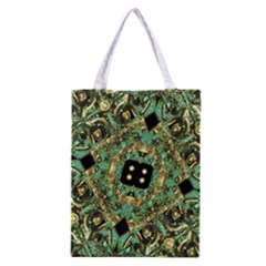 Luxury Abstract Golden Grunge Art Classic Tote Bag