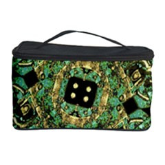 Luxury Abstract Golden Grunge Art Cosmetic Storage Case