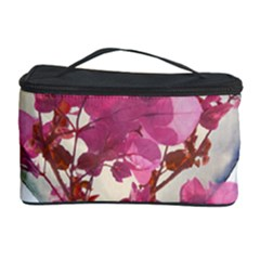 Heart Shaped with Flowers Digital Collage Cosmetic Storage Case