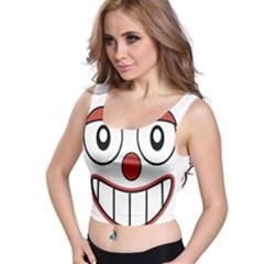 Happy Clown Cartoon Drawing Crop Top
