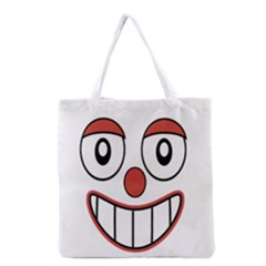 Happy Clown Cartoon Drawing Grocery Tote Bag