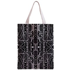 Black and White Tribal Geometric Pattern Print Classic Tote Bag