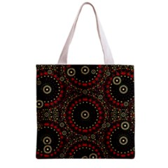 Digital Abstract Geometric Pattern in Warm Colors Grocery Tote Bag
