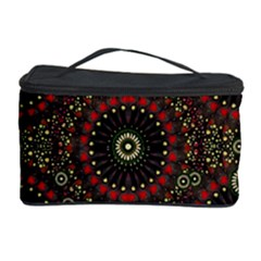 Digital Abstract Geometric Pattern in Warm Colors Cosmetic Storage Case