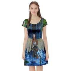 Magic Sword Short Sleeved Skater Dress