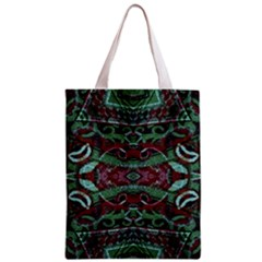 Tribal Ornament Pattern in Red and Green Colors Classic Tote Bag