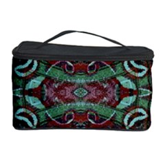 Tribal Ornament Pattern in Red and Green Colors Cosmetic Storage Case