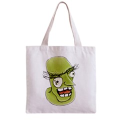 Mad Monster Man With Evil Expression Grocery Tote Bag