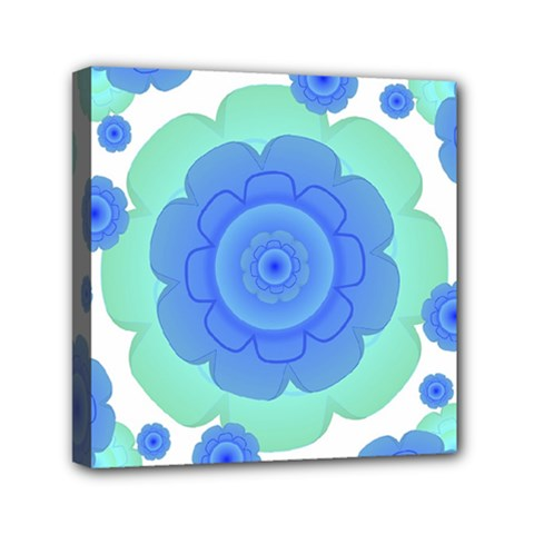 Retro Style Decorative Abstract Pattern Mini Canvas 6  X 6  (framed)