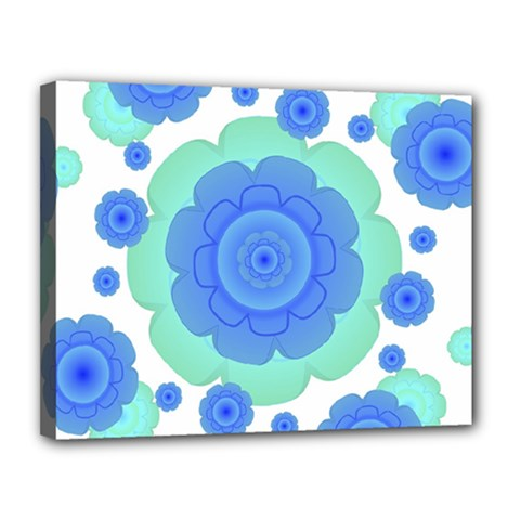 Retro Style Decorative Abstract Pattern Canvas 14  X 11  (framed)