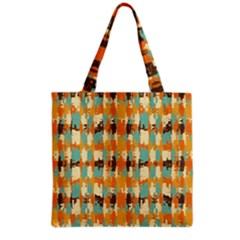 Shredded Abstract Background Grocery Tote Bag