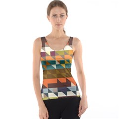 Shapes In Retro Colors Tank Top