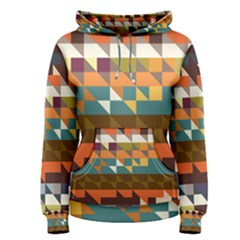 Shapes in retro colors Women s Pullover Hoodie