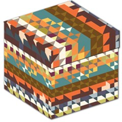 Shapes In Retro Colors Storage Stool 12