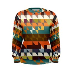 Shapes in retro colors Women s Sweatshirt