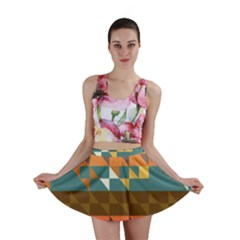 Shapes in retro colors Mini Skirt