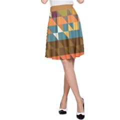 Shapes In Retro Colors A Line Skirt
