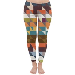 Shapes In Retro Colors Winter Leggings
