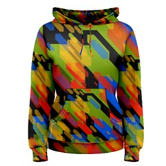 Colorful shapes on a black background Women s Pullover Hoodie